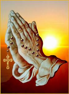 Free Praying Hands With Rosary, Download Free Clip Art ...