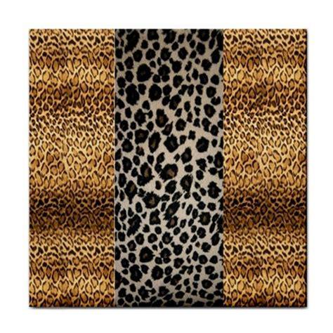leopard animal print ceramic feature tile or coaster