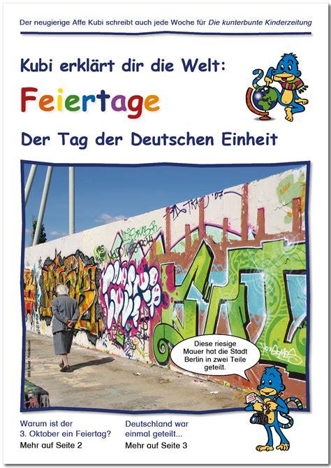 De dag van de duitse eenheid (duits: Die kunterbunte Kinderzeitung - Der Tag der Deutschen Einheit