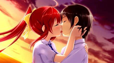 anime kiss in top 10 kiss anime best scene 1 youtube