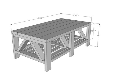 rustik 2x4 dimensions white truss coffee table diy projects