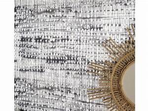Planisphère Noir Et Blanc : un papier peint noir et blanc pour un mur l gant elle d coration ~ Melissatoandfro.com Idées de Décoration