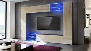 wall unit living room furniture set mirage black high With black gloss living room furniture set