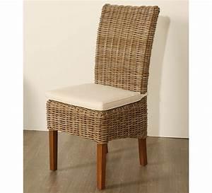Lot de 2 chaises en kubu tresse 5936 for Meuble salle À manger avec chaise en cuir pour salle a manger
