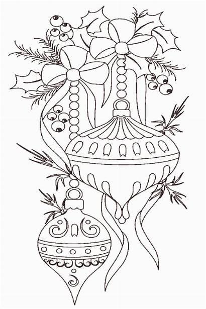 Coloring Ornaments Drawing Adults Printable Hallmark Xmas