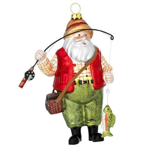 bated   fishing santa ornament    lure