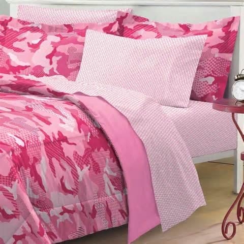 new geo camo pink camouflage girl bedding kid comforter sheet set ebay