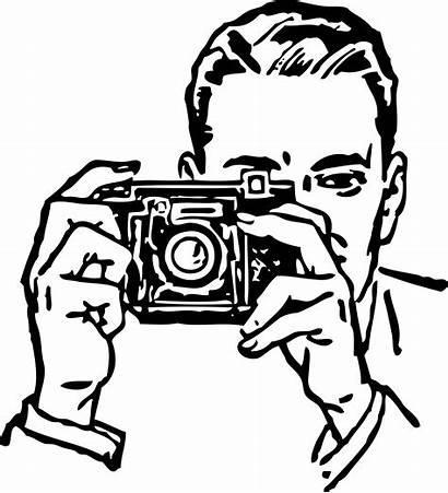 Camera Clipart Clipartpanda Clip Line Take Coloring