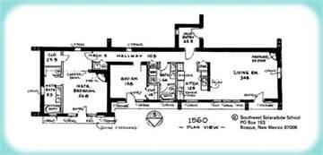 adobe homes plans solar adobe house plan 1560