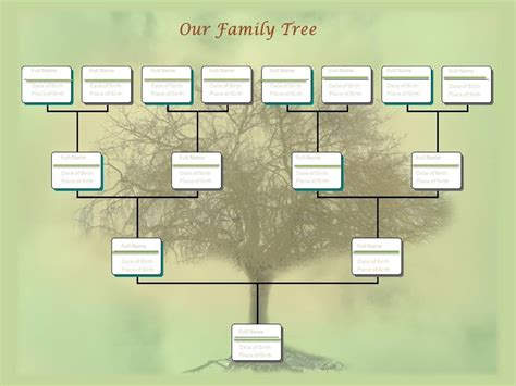 family tree chart template  youtube