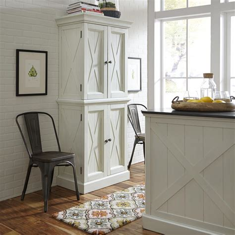 home styles seaside lodge hand rubbed white kitchen pantry