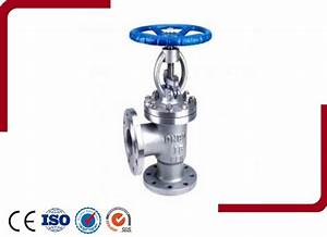Manual Flanged Din Angle Type Globe Valve Manufacturer And
