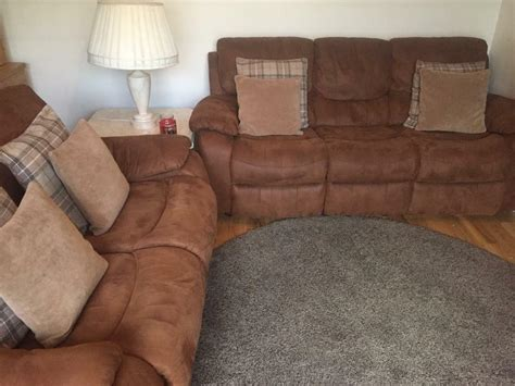 Suede Couches For Sale by Sofa Suite For Sale Harvey Furniture Bel Air Brown Faux