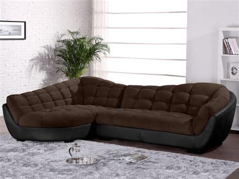 canap 233 d angle droit tissu et cuir leandro canap 233 vente unique ventes pas cher