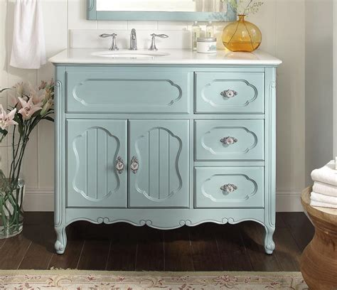 bathroom vanity victorian vintage style light blue