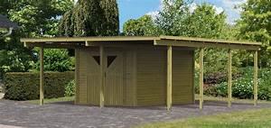Carport Avec Abri : carport bois avec debarras 2 abris de jardin ~ Melissatoandfro.com Idées de Décoration