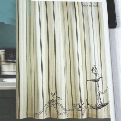 black and white striped curtains target target home coastal fabric shower curtain nautical