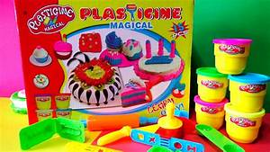 Plasticine Magical Cake Playset Review Play Doh Learn And