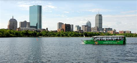 Duck Boat Tours Boston Prudential Center by River On The Charles River
