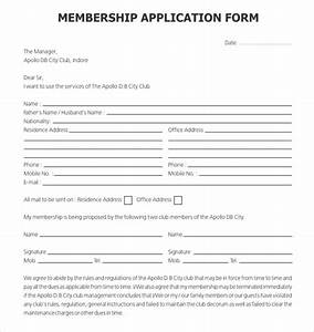 15 sample club application templates pdf doc free With membership form template doc