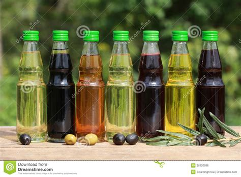 types  cooking oil royalty  stock image