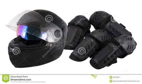 Protector Motorcycle Protective Gear Knee Stock Photo