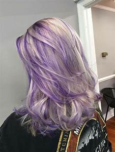 Ash Blond And Purple Hair Purple Hair Pinterest