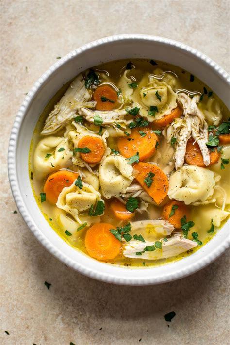easy chicken tortellini soup salt lavender