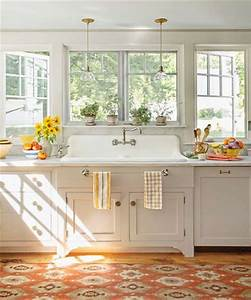 cocinas con mucha luz natural decoracion de interiores y With kitchen colors with white cabinets with paper towel wall art