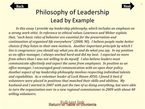 leadership philosophy template personal leadership philosophy exles exles of essay outline essay outline exle