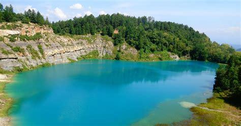 danau biru danau tersembunyi  sawahlunto objek