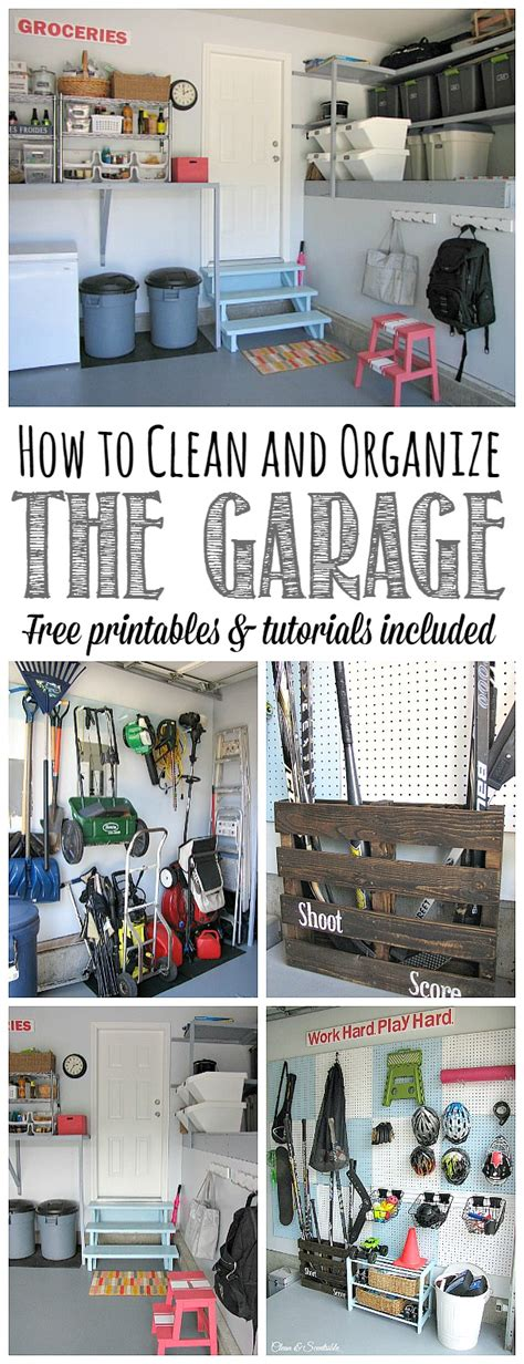 how to organize garage the 2016 household organization diet clean and scentsible