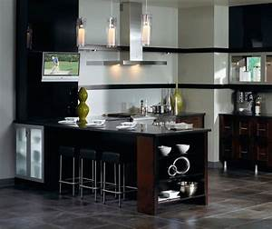 contemporary kitchen cabinets in espresso finish 1808