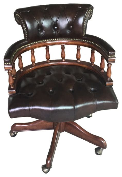 leather captain office chair black traditional office