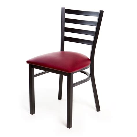 chairs metal ladder back chair black