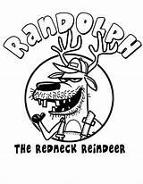 Coloring Redneck Randolph Reindeer Hillbilly Printable Template Horse Getcolorings Kleurplaten sketch template