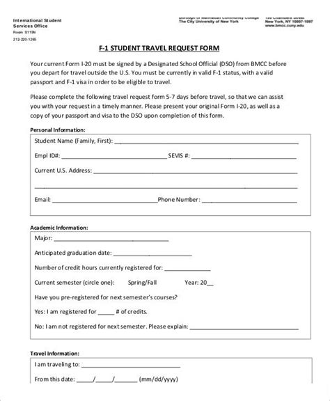 Travel Request Form Template Word by 7 Travel Order Forms Free Word Pdf Format