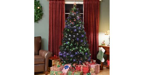Fiber Optic Christmas Trees by Pre Lit Fiber Optic 7 Green Artificial Christmas Tree 99
