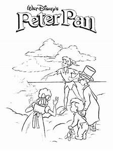Peterpan Coloring Pages Coloringpages1001com