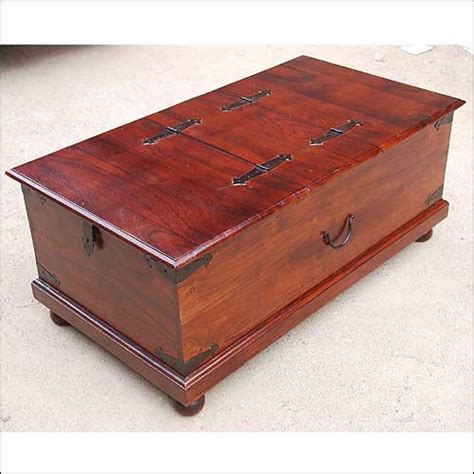 It is entirely made of walnut stained distressed knotty pine. Lincoln Study Double Top Storage Trunk Coffee Table ...