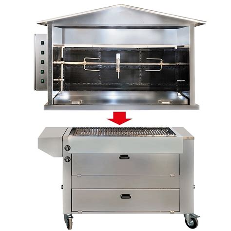 tourne broche barbecue gaz station barbecue gaz st1