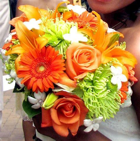 weddings  orange  lime green orange flowers
