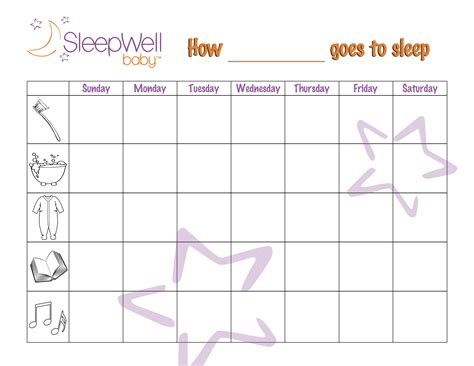toddler bedtime sticker chart printables sleepwellbaby ca 617 | StickerChart