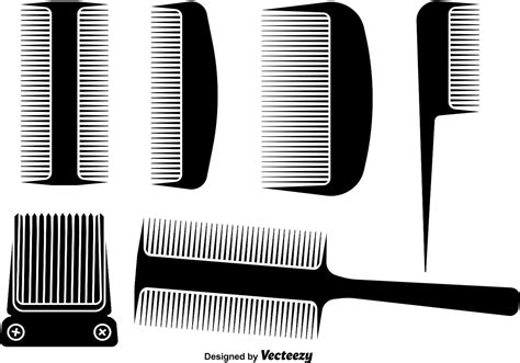 hair comb  hair clipper designs   vector art stock