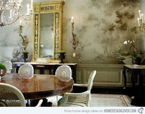 Wandgestaltung Esszimmer Ideen by 20 Conventional Dining Rooms With Wallpaper Murals Mural