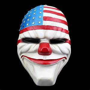 Payday 2 Masks Dallas America Cosplay Masque Halloween