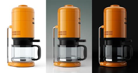 Tutorial: Braun KS 20 coffee maker industrial design   BlenderNation