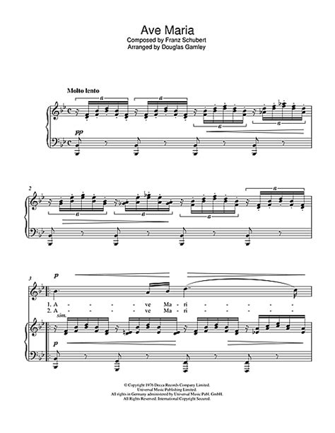 ave sheet by luciano pavarotti piano vocal 46885