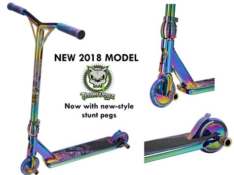 New Team Dogz Pro 4 Custom Neochrome Rainbow Aluminium