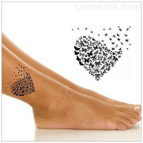 temporary tattoo  butterfly ankle tattoo tatouage